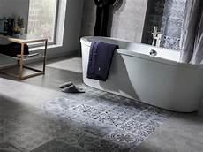 Vinyle Salle De Bain Concrete Look Tiles Antique Silver Contemporary