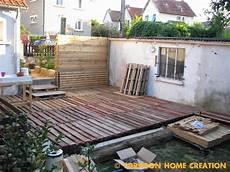 construire une terrasse en palette torpoon home creation terrasse en palettes et salon d 233 t 233