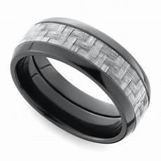 domed carbon fiber men s wedding ring in zirconium