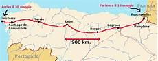 camino de santiago percorso pin spagna carta geografica della mappa on