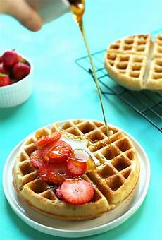 the best vegan gluten free waffles minimalist baker recipes