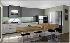 table ilot de cuisine ilot central table hauteur plan de travail ou table 74cm