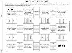 basic atomic structure maze worksheet for review or assessment tpt