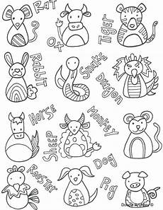 new year animals coloring pages 17108 zodiac coloring pages at getcolorings free printable colorings pages to print and