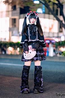 gothic harajuku street style w twintails putumayo cape