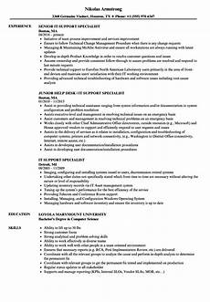 it support specialist resume sles velvet