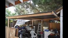 how to put a simple shed patio roof cover for sheru bruno lazy co worker youtube