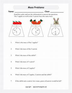 mass measurement worksheets grade 1 1750 scale pointer problems printable grade 3 math worksheet