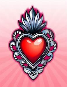 sacred hearts motive herz und kunst