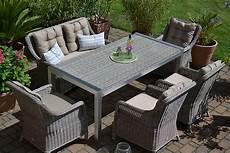 Gartenm 246 Bel Set Tisch Bank Und 4 Sessel Rattan Polyrattan