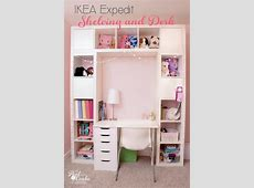IKEA Expedit to Shelving Unit with Desk ? Scrap Booking