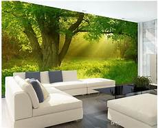 new custom 3d beautiful stereo nature jungle tv wall mural