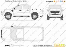 Ford Ranger Cab 4x4 Vector Drawing