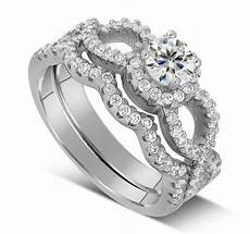 2 carat infinity wedding ring in white gold jeenjewels