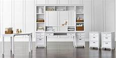 white home office furniture sets modular home office collections crate and barrel