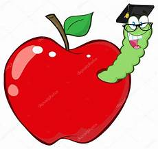 Malvorlagen Apfel Mit Wurm Gl 252 Cklich Wurm Im Apfel Stockvektor 169 Hittoon 61073453