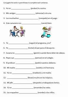 conjugation worksheets 18230 worksheets printables stem changing verbs free printable conjugation worksheet