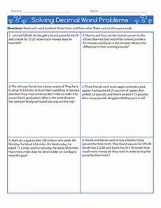 decimal word problems worksheets for grade 5 7546 4th grade addition worksheets free printables education