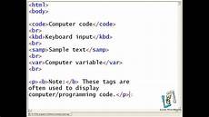 html programs code 10 html program for different computer output tags youtube
