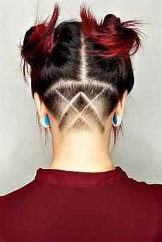 undercut frauen stylen undercut hairstyle neck