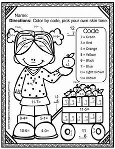 addition colouring worksheets year 1 9863 fall color by number subtraction addition subtraction color coding for