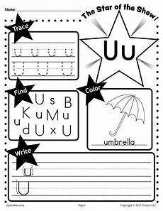 letter u worksheet tracing coloring writing more supplyme