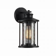 lighting inc lighting crichton transitional black 1 light outdoor wall sconce 11 quot tall