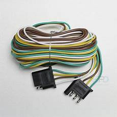 flat wire harness pin 4 pin trailer light wiring harness extension flat wire connector 12ft 18awg ebay