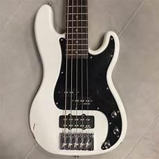 Schecter Series P Custom 5 String Bass White Reverb