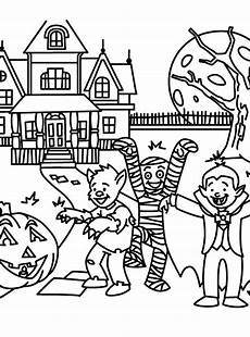 halloween safety coloring pages coloring home