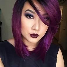 couleur cheveux violet foncé de la fantaisie avec les cheveux violets le lab montpellier