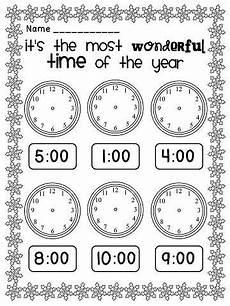 telling time worksheet for kindergarten 3585 winter activities math and literacy ultimate bundle math homeschool math math classroom