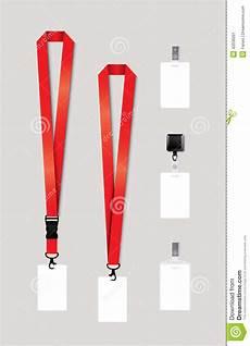 lanyard card template free set of lanyard retractor end badge stock vector image