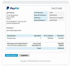 Factures En Ligne Factures 233 Lectroniques Paypal Fr