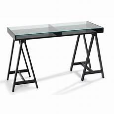 bureau verre noir bureaux meubles et rangements bureau study noir plateaux