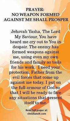 no weapon formed against me shall prosper prayer prayer no weapon formed against me shall prosper weapons and spiritual