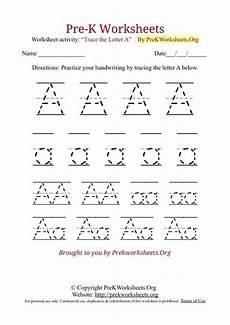 pre k worksheets alphabet tracing pre k works