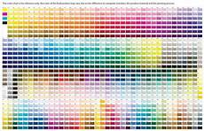 pantone color chart all colors modern interior design cmyk color chart pantone color chart