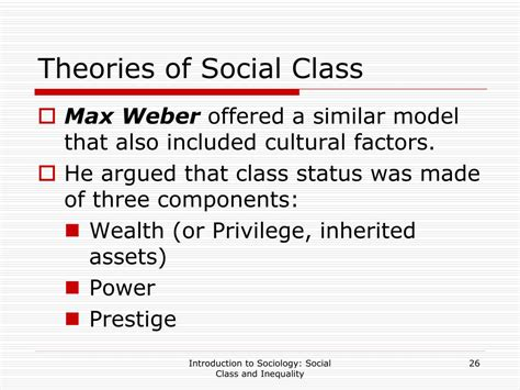 Weber s Theory Of Social Class