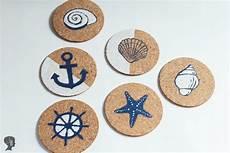 diy anleitung maritime diy maritime korkuntersetzer gestalten mit bildern