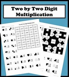 2 by 2 digit multiplication color worksheet by aric tpt