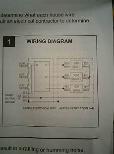 Wiring Fan Heater In Bathroom by Electrical Wiring Bathroom Exhaust Fan With Heater