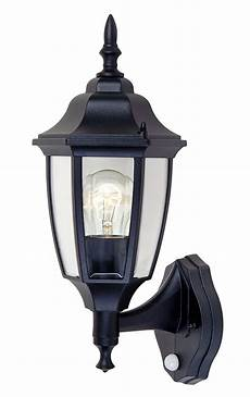 blooma louisa black external pir wall light departments diy at b q