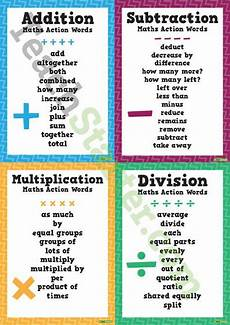 worksheets addition subtraction multiplication division 9999 maths words addition subtraction multiplication division equals teaching resource