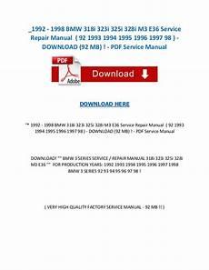 download car manuals pdf free 1995 bmw m3 windshield wipe control 1992 1998 bmw 318i 323i 325i 328i m3 e36 service repair manual