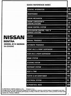 all car manuals free 1999 nissan sentra engine control nissan sentra model b14 series ga engine 1999 service manual pdf online download