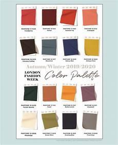 london fashion week color palette autumn winter 2019