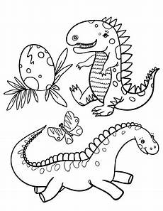 free baby dinosaur coloring page