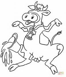 cow illustration coloring page free printable coloring pages