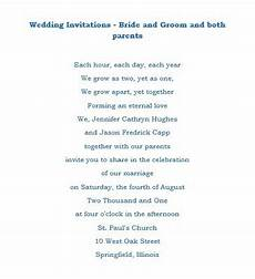 Wording Wedding Invitations From And Groom